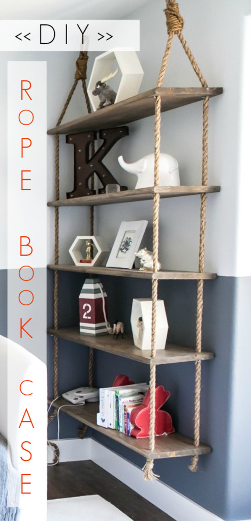 DIY Rope Book Case
