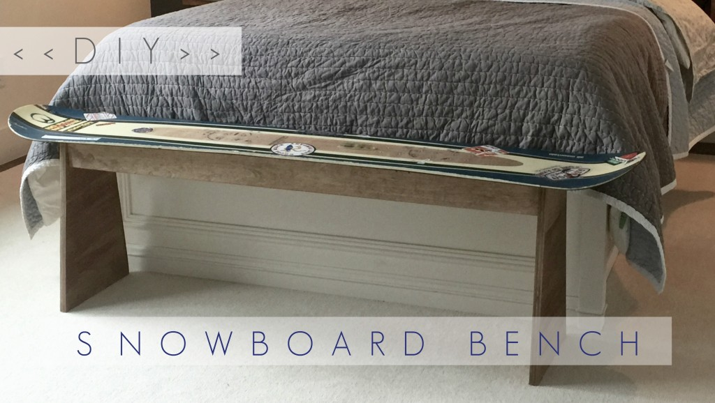 DIY Snowboard bench (1)